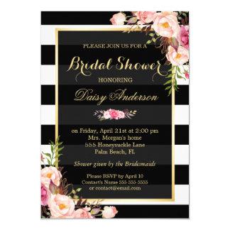 Décor floral vintage pour épouser la douche carton d'invitation  12,7 cm x 17,78 cm