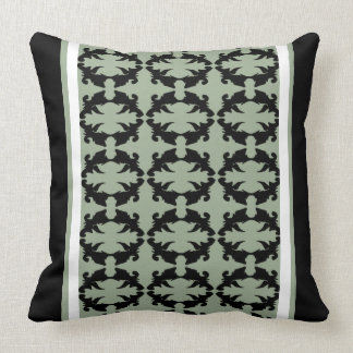 Decor Pattern Black Moss Ornate Striped Pillow 22