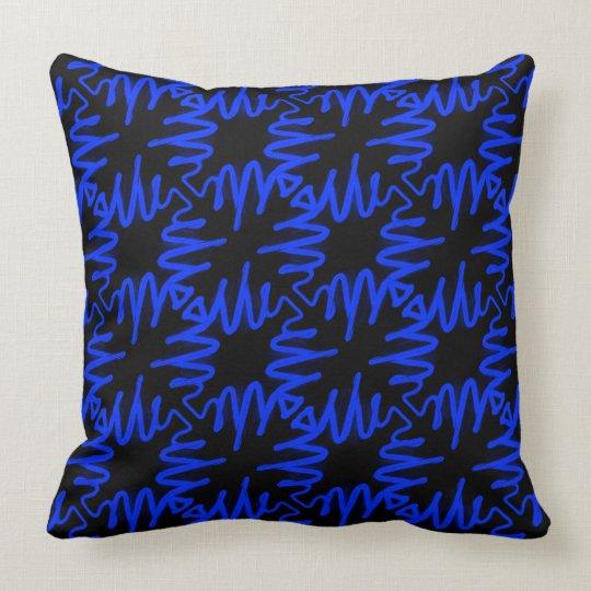 Decor Pillow Modern Neon Blue Black Colourful