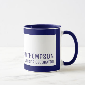 decor professional coffee-mug with blue border mug