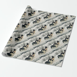 Decorate gifts with Corgies in winter land Wrapping Paper