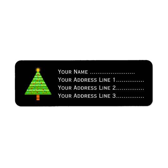 Decorated Christmas Tree + Address