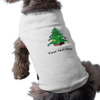 Decorated Christmas tree cartoon Doggie T Shirt