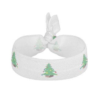 Decorated Christmas tree cartoon Hair Tie