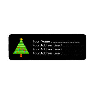 Decorated Christmas Tree Return Address Label