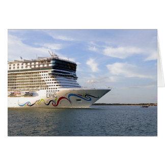 Decorated Cruise Ship Bow Custom Card