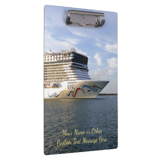 Decorated Cruise Ship Bow Custom Clipboard