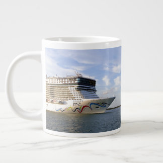 Decorated Cruise Ship Bow Custom Large Coffee Mug