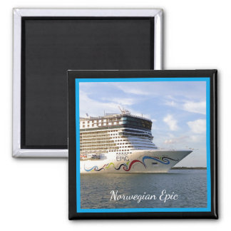 Decorated Cruise Ship Bow Custom Magnet