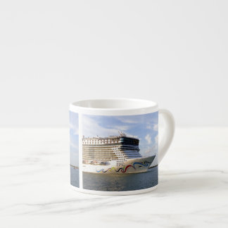 Decorated Cruise Ship Bow Espresso Cup