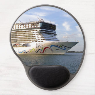 Decorated Cruise Ship Bow Gel Mouse Pad