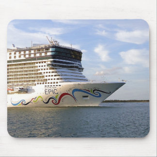 Decorated Cruise Ship Bow Mouse Pad