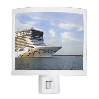Decorated Cruise Ship Bow Nite Lights