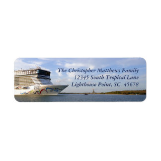 Decorated Cruise Ship Bow Personalized