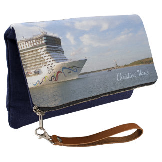 Decorated Cruise Ship Bow Personalized Clutch