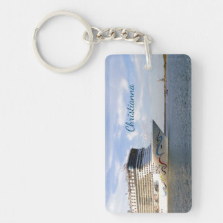 Decorated Cruise Ship Bow Personalized Keychain
