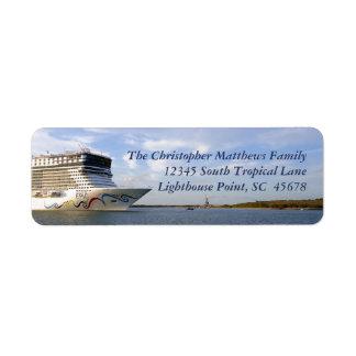 Decorated Cruise Ship Bow Personalized Return Address Label