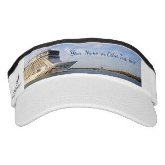 Decorated Cruise Ship Bow Personalized Visor