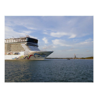 Decorated Cruise Ship Bow Poster