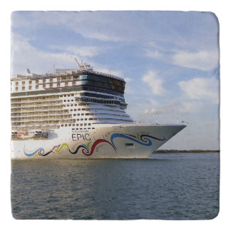 Decorated Cruise Ship Bow Trivet