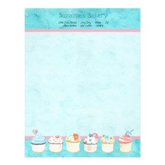 Decorated Cupcakes Custom Cake Business Stationery Letterhead Design