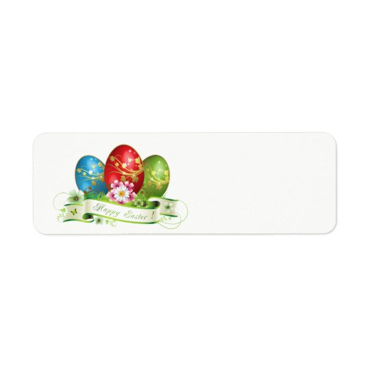 Decorated Easter Eggs Return Address Label