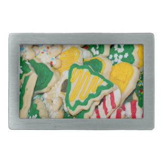 Decorated Frosted Homemade Christmas Sugar Cookies Belt Buckle