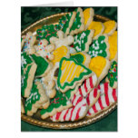 Decorated Frosted Homemade Christmas Sugar Cookies Big Greeting Card