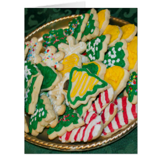 Decorated Frosted Homemade Christmas Sugar Cookies Card