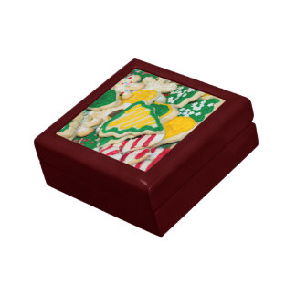 Decorated Frosted Homemade Christmas Sugar Cookies Gift Box