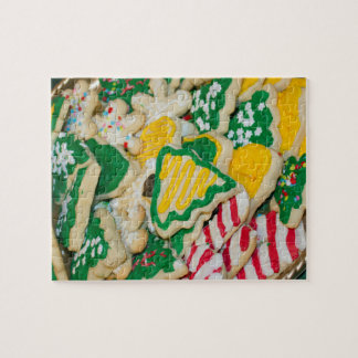 Decorated Frosted Homemade Christmas Sugar Cookies Jigsaw Puzzle