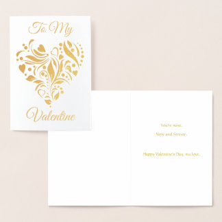 Decorated Heart Valentine Foil Card