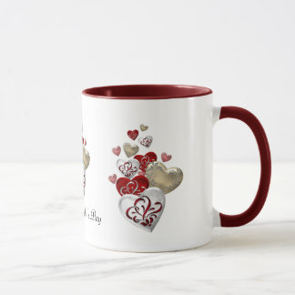Decorated Hearts Mug