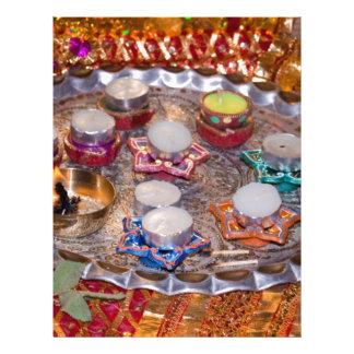 Decorated Hindu prayer platter Custom Letterhead