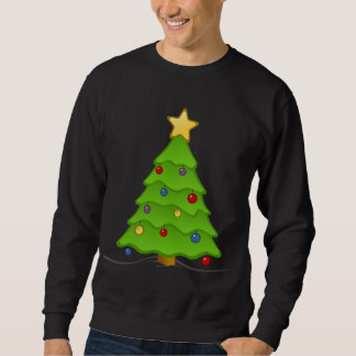 Decorated Holiday Tree Ugly Christmas Swaeter Sweatshirt