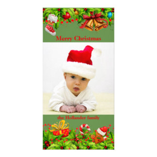 Decorated Holly with Photo Card