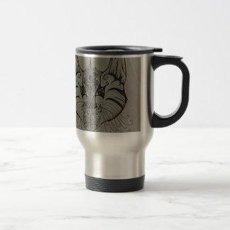 Decorated Lynx Travel Mug