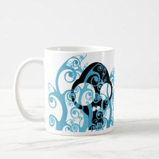 Decorated skull coffee mug