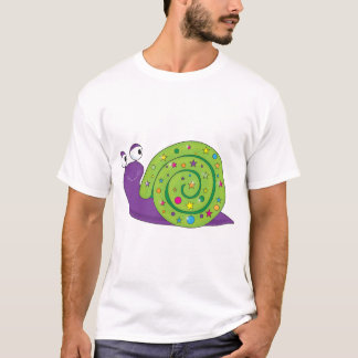 Decorated Snail Mens T-Shirt