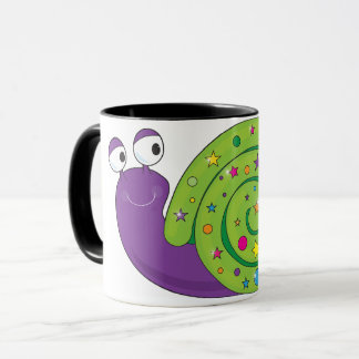 Decorated Snail Mug