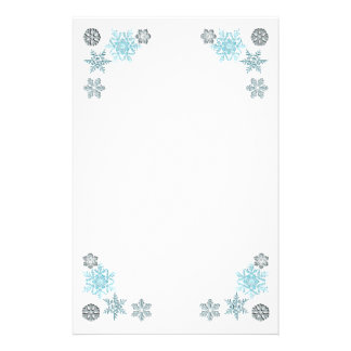 Decorated Snowflakes Stationery