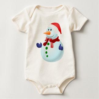 Decorated Snowman Baby Bodysuit