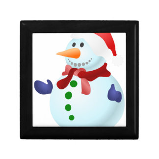 Decorated Snowman Gift Box