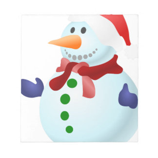 Decorated Snowman Notepad