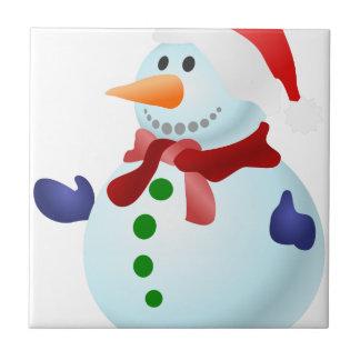 Decorated Snowman Tile