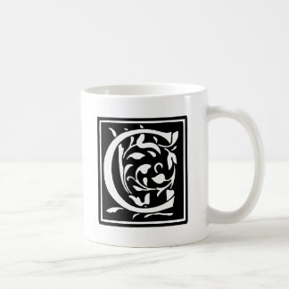 Decorated Typography Letter C Coffee Mug