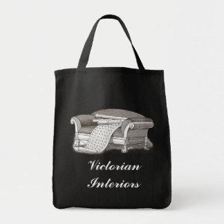 Décorateur d'intérieurs victorien de style vintage sac en toile épicerie