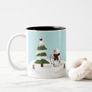 Decorating The Tree Snowman Mug