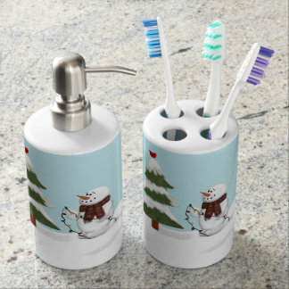 Decorating The Tree Snowman Toothbrush/Soap Set