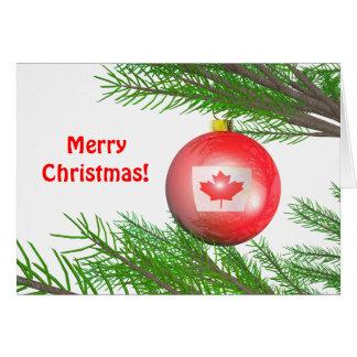 Décoration canadienne d'arbre de Noël Carte De Vœux